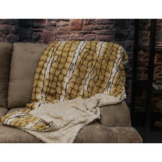 Somette Brushed Faux Fur Animal Print Throw
