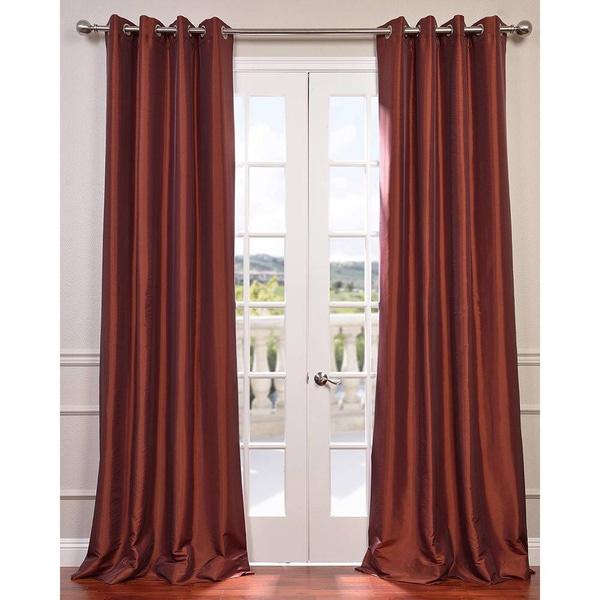 eff grommet blackout faux silk taffeta 84 inch length curtain overstock shopping great deals. Black Bedroom Furniture Sets. Home Design Ideas