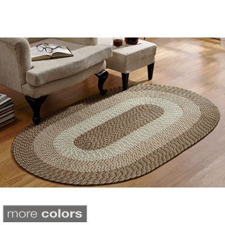 Stripe Indoor/ Outdoor Braided Rug (8' x 11')