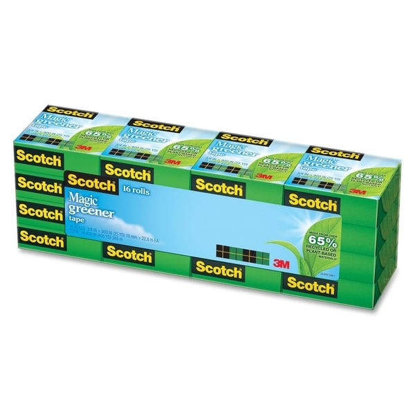Scotch Magic Greener Tape (Pack of 16 Rolls)