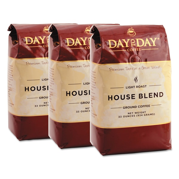 Day to Day Coffee 100% Pure Day to Day House Blend 33 oz Bag Coffee (3/Pack)