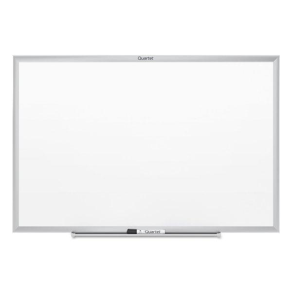 Quartet Classic Silver Aluminum Frame Melamine Whiteboard