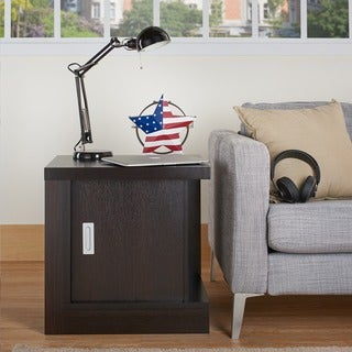 Furniture of America Robyn Contemporary Storage End Table