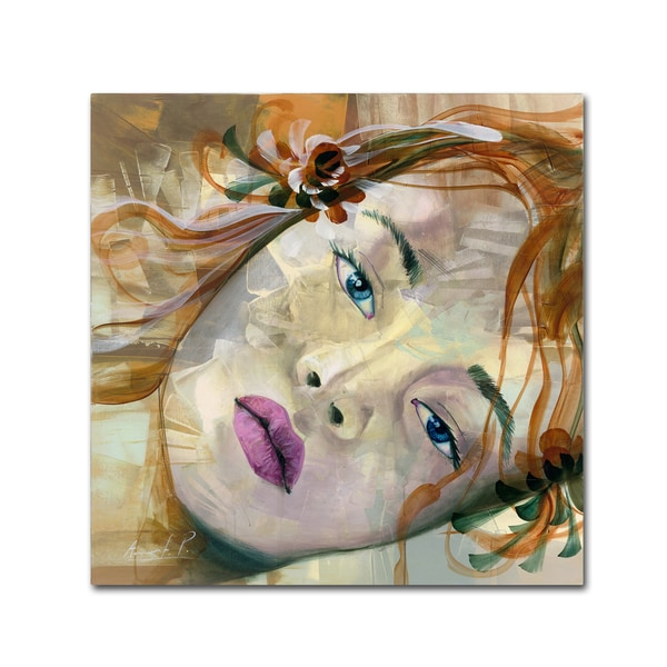 Andrea 'Pale Blue Eyes' Canvas Art