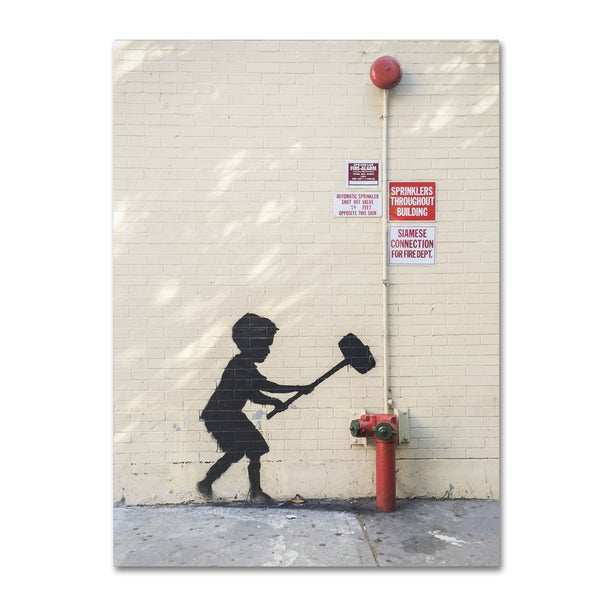 Banksy 'Better Out Than In' Canvas Art