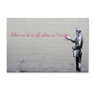 Banksy 'Echoes' Canvas Art