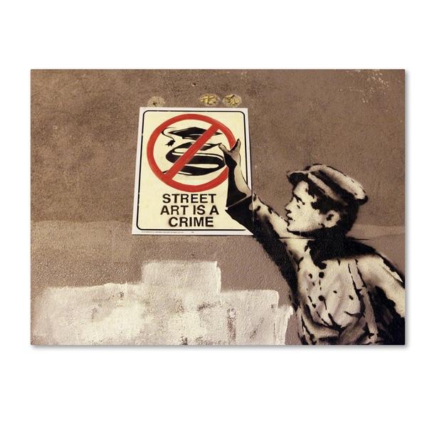 Banksy 'Street Art is a Crime' Canvas Art