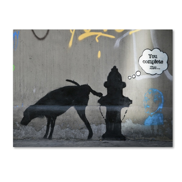 Banksy 'You Complete Me' Canvas Art