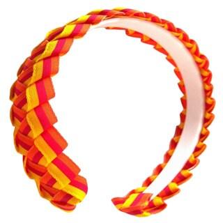 Orange/ Red/ Yellow Braided Ribbon Headband