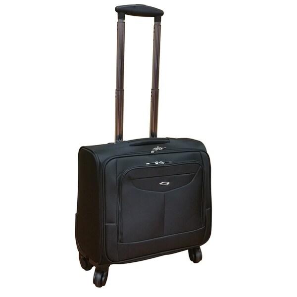 Kemyer Elite 16-inch Spinner Computer Briefcase Black
