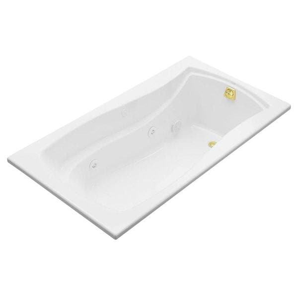 Mariposa 5-1/2 Foot Whirlpool Tub with Right-hand Drain in White