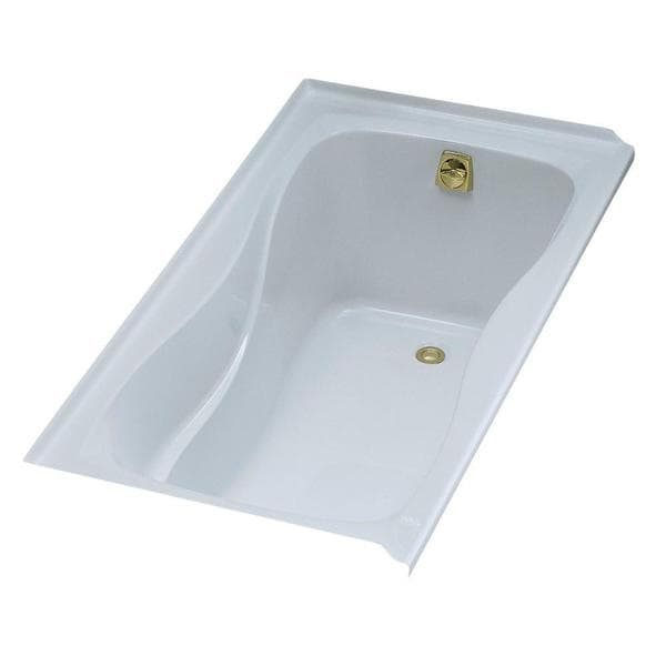 Hourglass 5 Foot Alcove Bath with Right-hand Drain