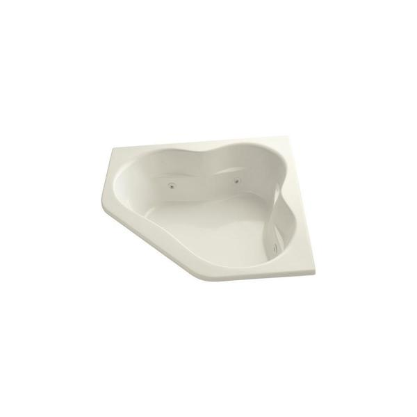 Tercet 5 Foot Whirlpool Tub in Biscuit