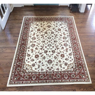 Amalfi Ivory/Brick area rug (9'10 x 12'10)