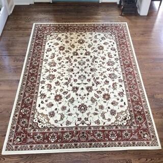 Amalfi Ivory/ Brick area rug (3'3 x 4'11)