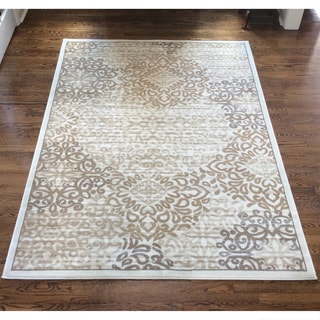 Admire Home Living Plaza Mia Bone Area Rug (5'3 x 7'3)