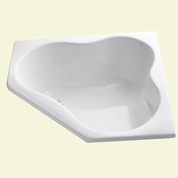 kohler proflex 4 5 foot front drain corner bathtub