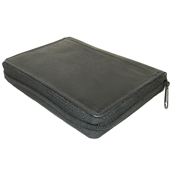 Continental Leather zip Around Genuine Leather Hipster Wallet