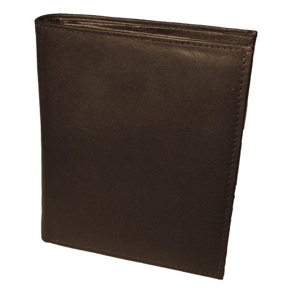 Continental Leather Men S Bifold Tall Slim Hipster Wallet