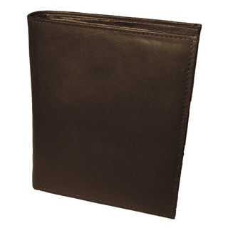 Continental Leather Men's Bifold Tall Slim Hipster Wallet with 10 Credit Card Spaces, Great Coat Wallet or Back Pocket Wallet