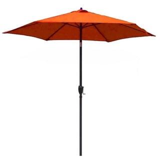 Lauren & Company 9-foot Tuscan Orange Steel Crank and Tilt Market Umbrella