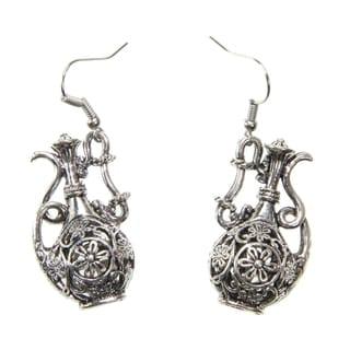 Handmade Tibetan Silver Tea Pot Earrings (China)