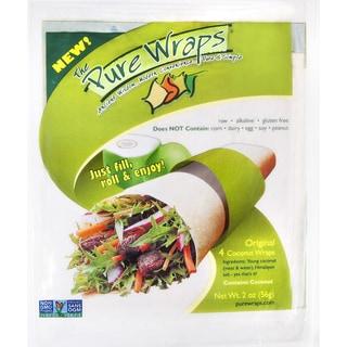 The Pure Wraps, Original Coconut Wraps, 2-ounce [Case of 6]
