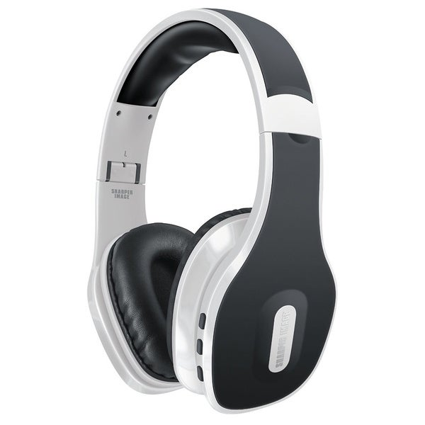 Sharper Image SBT559WH Universal Wireless Bluetooth 4.0 Headphones with Mic, White