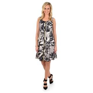 Timeless Comfort by Journee Women's Sleeveless Zippered Front Dress