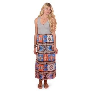 Journee Collection Junior's Sleeveless Printed Maxi Dress