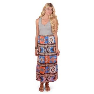 Journee Collection Junior's Sleeveless Printed Maxi Dress