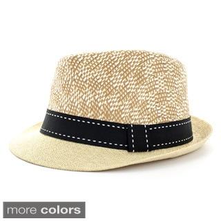 Faddism Men's Textured Fashion Fedora Hat