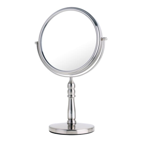 Danielle mirror vanity satin nickel 10x mirror 17346720 for Miroir danielle