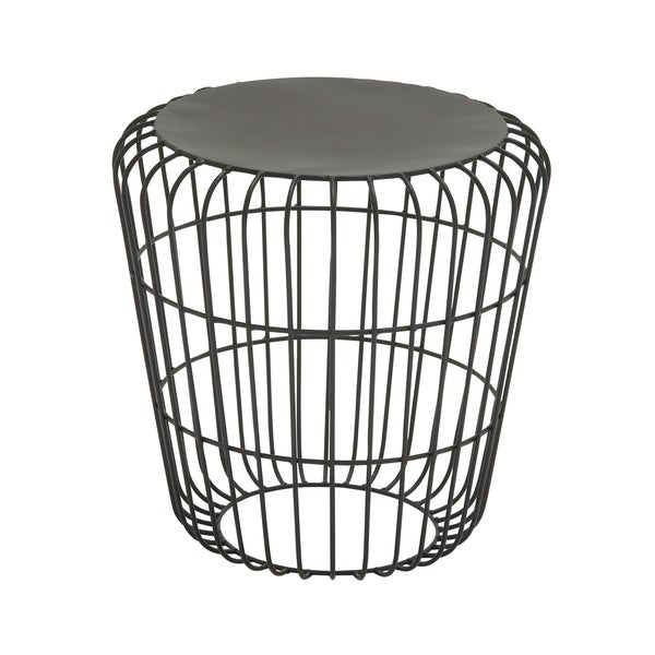 Round Wire Side Table Black