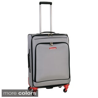 Swiss Cargo Petra 24-inch Spinner Upright Suitcase