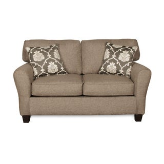 Sofab Aubrey Grande Love Seat With Two Reversible Accent Pillows
