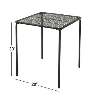 Black Squared Outdoor Coffee Table