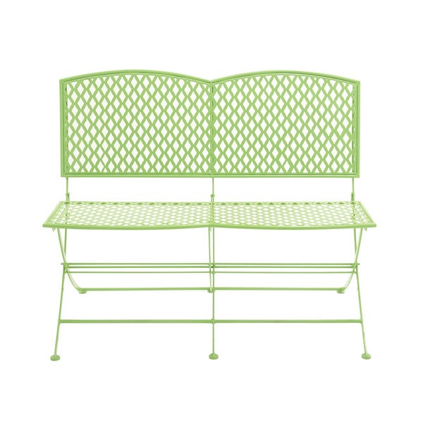 Great Outdoors Green All-weather Tin Folding Double Seat Bench