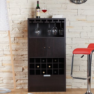 Furniture of America Dinette Contemporary Espresso Wine Cabinet