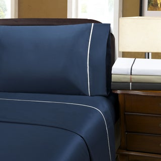 Wrinkle Resistant 600 Thread Count Bahama Solid Sheet Set