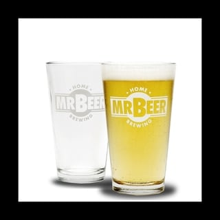 Pint Glass with Mr.Beer Logo only 1 Glass