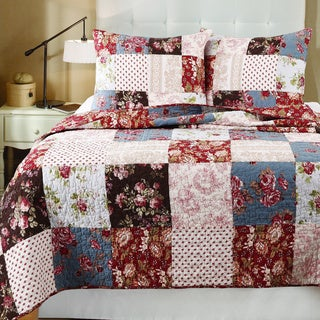 Greenland Home Fashions Natasha Cotton Patchwork 3-piece Quilt Set