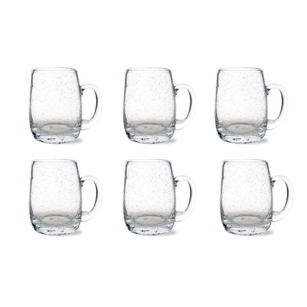 Tag Bubble Glass Clear Beer Mug (Set of 6)