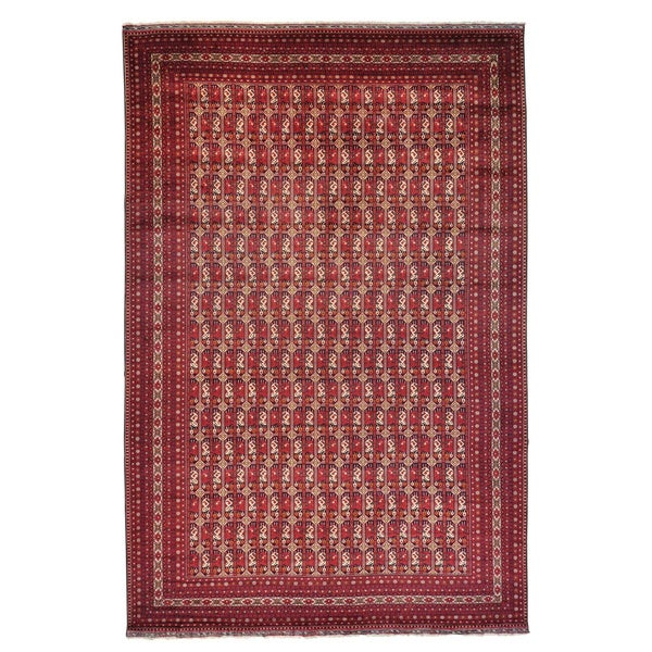 Afghan Khamyab Oriental Hand-knotted Rug Oversize (12'10 x 19'7) - 12'10 x 19'7 15563456