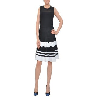 Bellario Women's Fit-and-flare Sleeveless Knit Dress