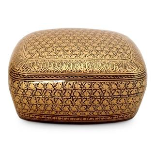 Handcrafted Papier Mache 'Kashmir Splendor' Jewelry Box (India)