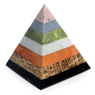 Multi-gemstone 'Energy of the Pyramid' Sculpture (Peru)