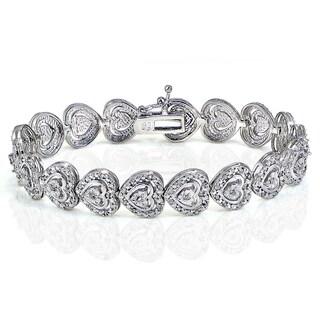 DB Designs 1ct TDW Diamond Miracle Set Heart Tennis Bracelet (I-J, I2-3)