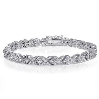 Diamond 1ct TDW Fashion XO Bracelet