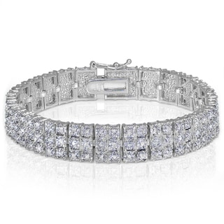 DB Designs Diamond 1ct TDW Miracle Set 3-Row Tennis Bracelet